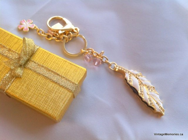USB Memory Key Gold Leaf Enamel Swarovski Crystal In A Gift Box