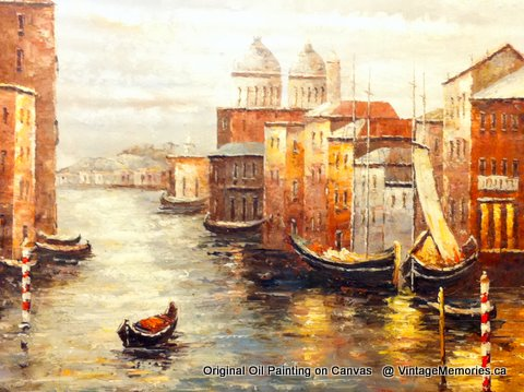 Venice Italy oil painting 36x48