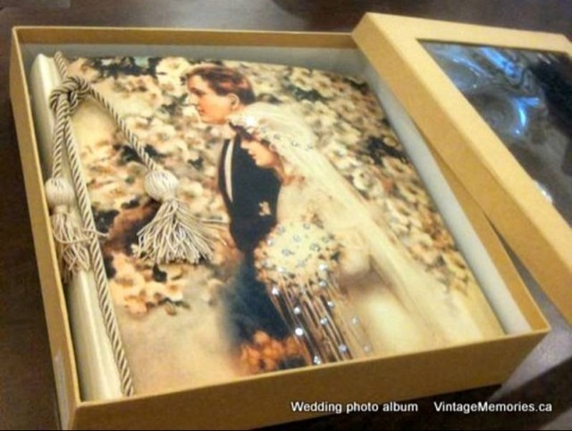 Victorian Swarovski wedding photo album