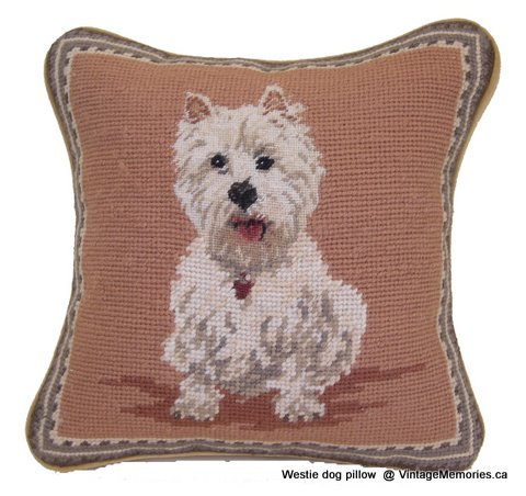 Westie dog pillow