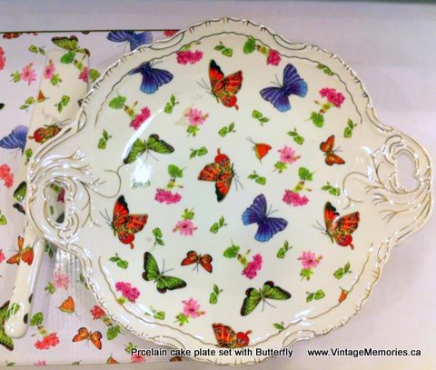 butterfly cake plate