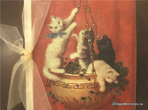cats in basket crystal photo album