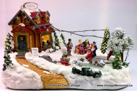 christmas them village-
