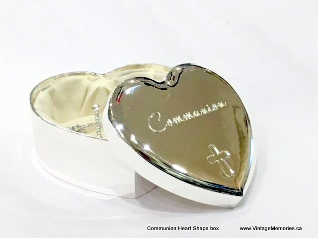 communion heart shape box
