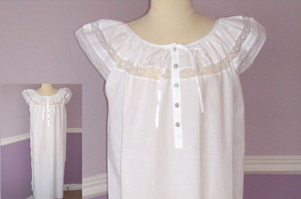 cotton lace nightgown-4