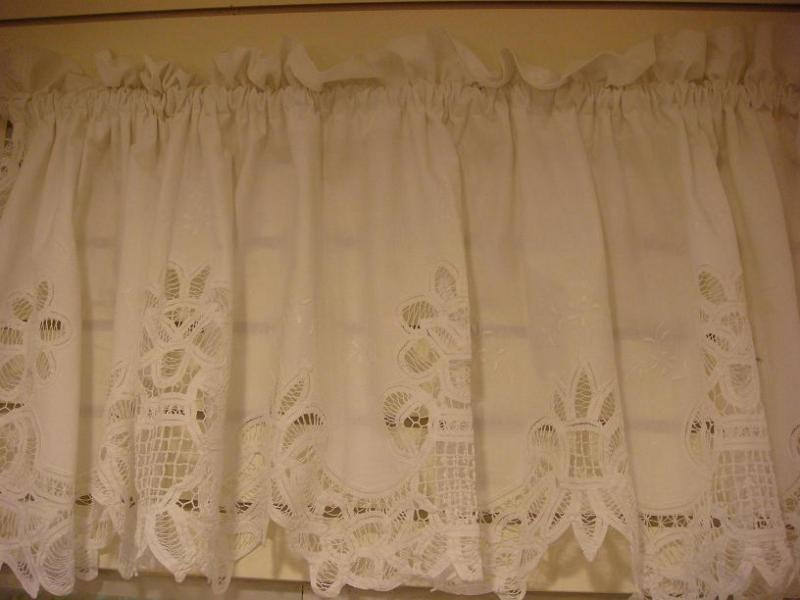 cotton lace valances