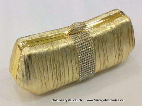 golden crystal clutch