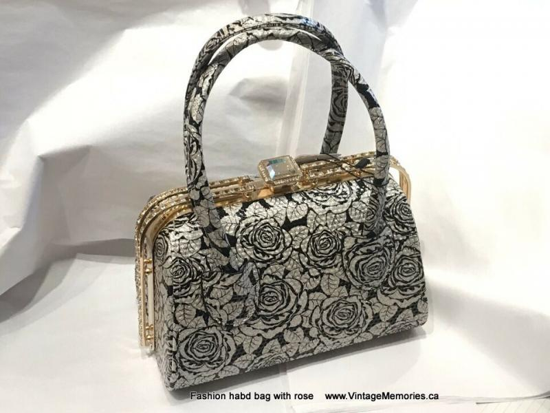 hand bag with rose