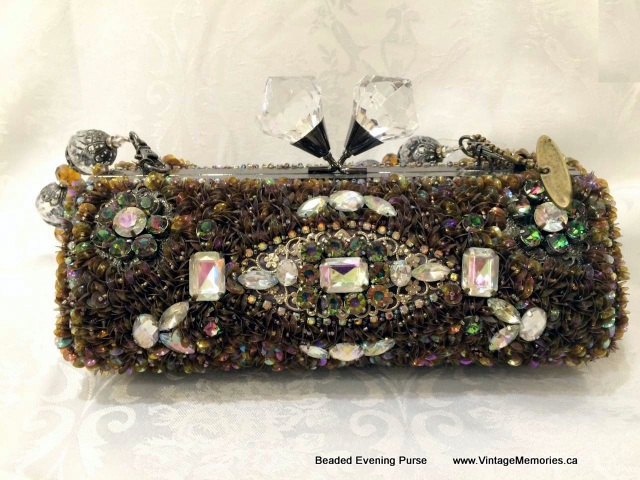handcrafted evening purse with stones