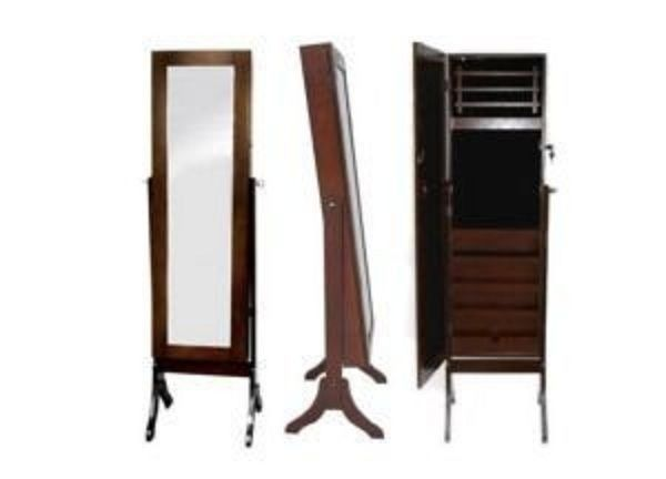 Jewellery Armoire Cabinet Box with large Mirror