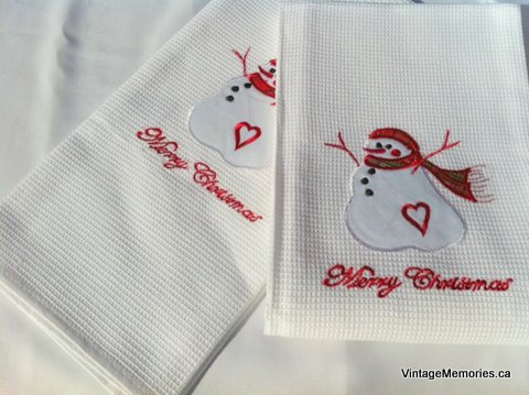 kitchen towel Xmas snowman