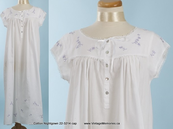 nightgown 22-3214 cap sleevs
