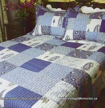 Handcrafted Cotton Quilt 60848