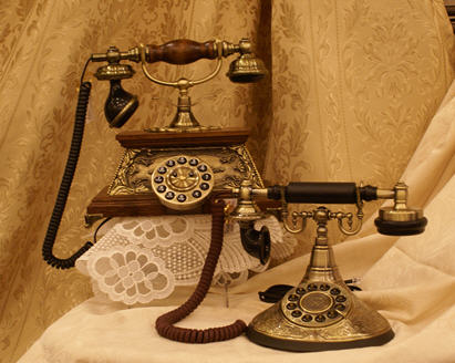 Real antique telephones