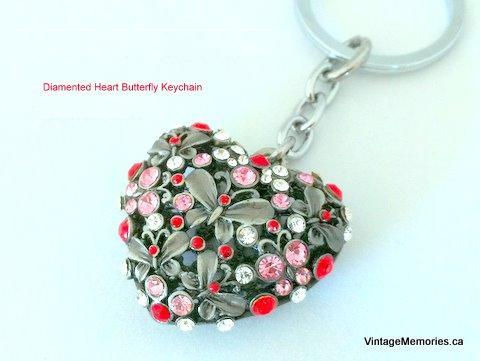 sweet_heart_butterfly_key_chain_vintagememories.ca