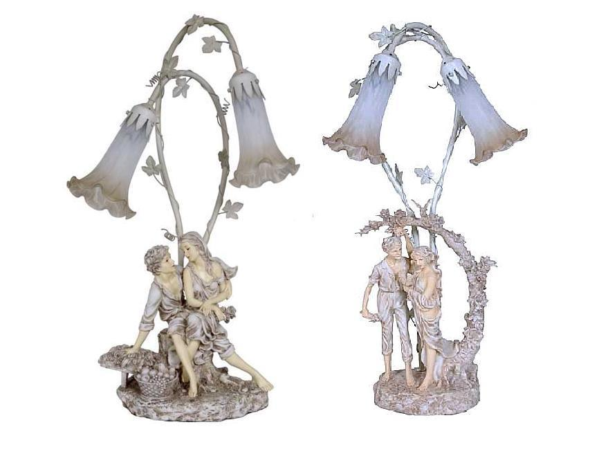 Vintage memories for wedding victorian figurine table lamps aloadofball Image collections