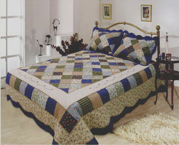Williamsburg Handcrafted cotton classic patchwork quilt and shams set.